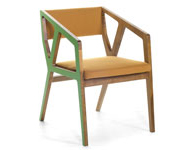 Stealth Chair Green and Brown
