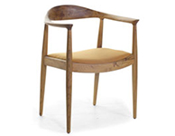 Danish Chair, Brown Seat