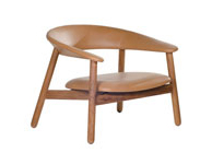 Boomerang Lounge Chair Brown