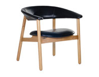 Boomerang Arm Chair Black