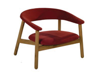 Boomerang Lounge Chair Red