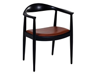 Danish Chair Black, Red Seat