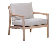Americana Lounge Chair White-wash
