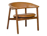 Boomerang Arm Chair Brown