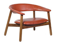 Boomerang Lounge Chair Red Leather