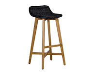 Skal Barstool Low Back Black