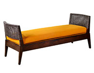 Bench with woven Leather