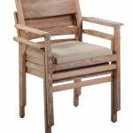 Stackable Oak Chair Stacked